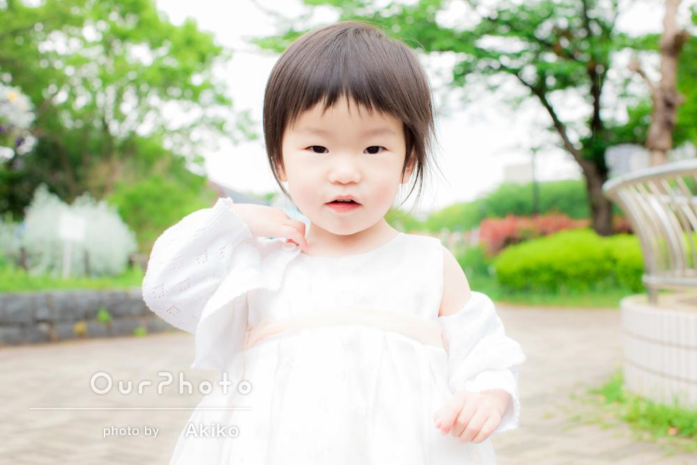 「とても可愛い写真を撮って頂きました」2歳の誕生日記念フォト