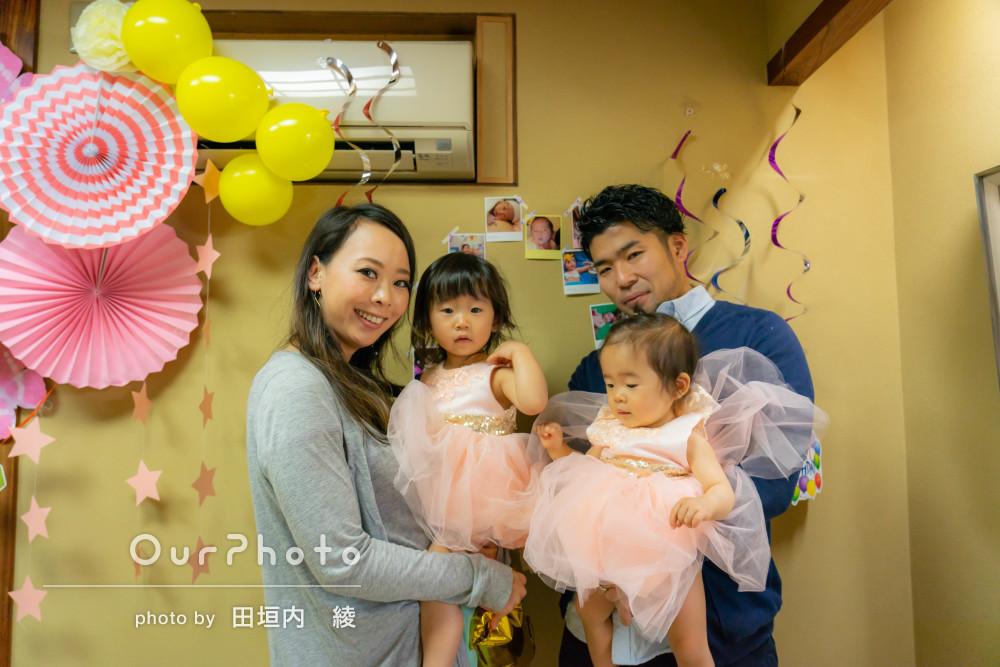 「娘も泣くことなく撮影することができました」家族写真の撮影