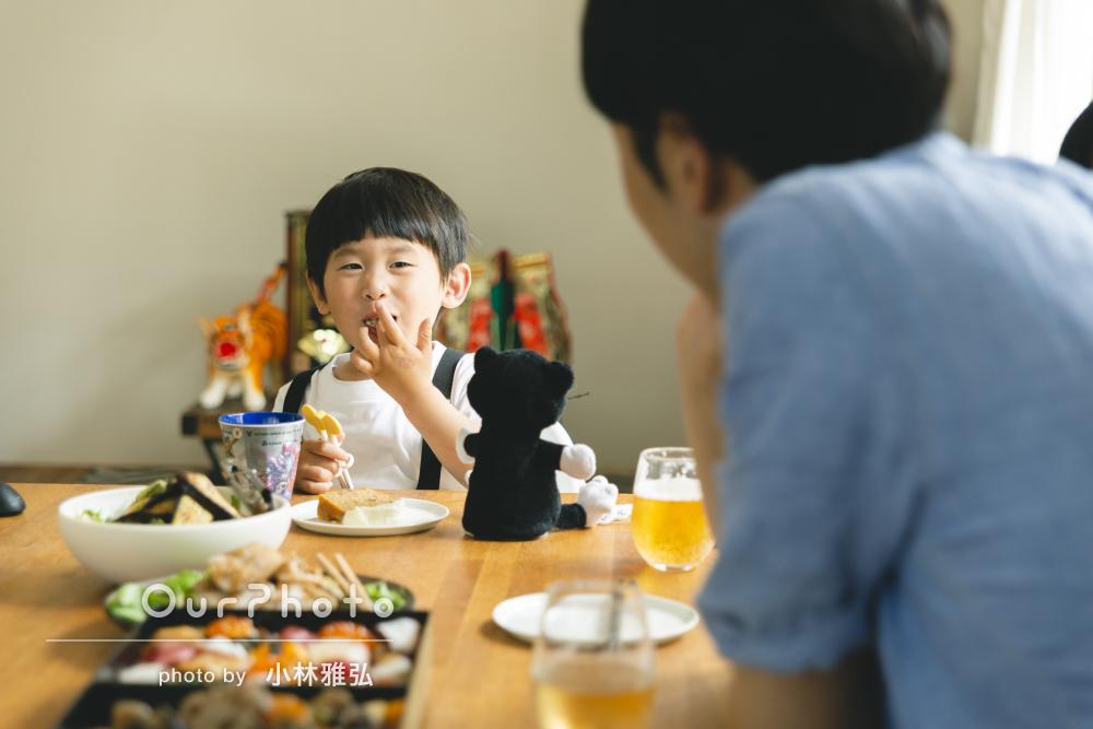 「いつも期待以上の写真!」二家族ご一緒で。端午の節句の家族写真の撮影