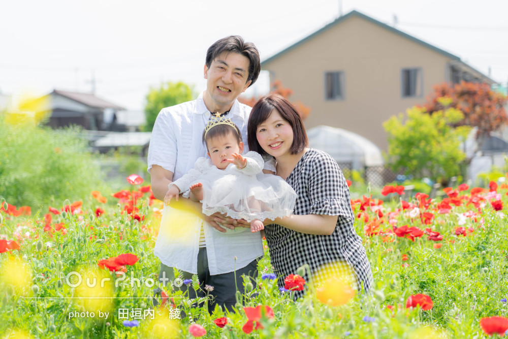 「素敵なロケーションで撮影できてよかったです」家族写真の撮影
