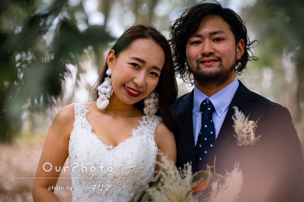 「とても優しくて楽しく撮影」シックな雰囲気の結婚記念カップルフォト