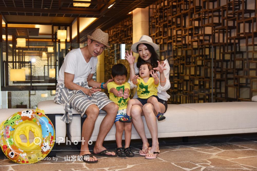 「自然な笑顔が撮れました」沖縄の海での家族旅行の撮影