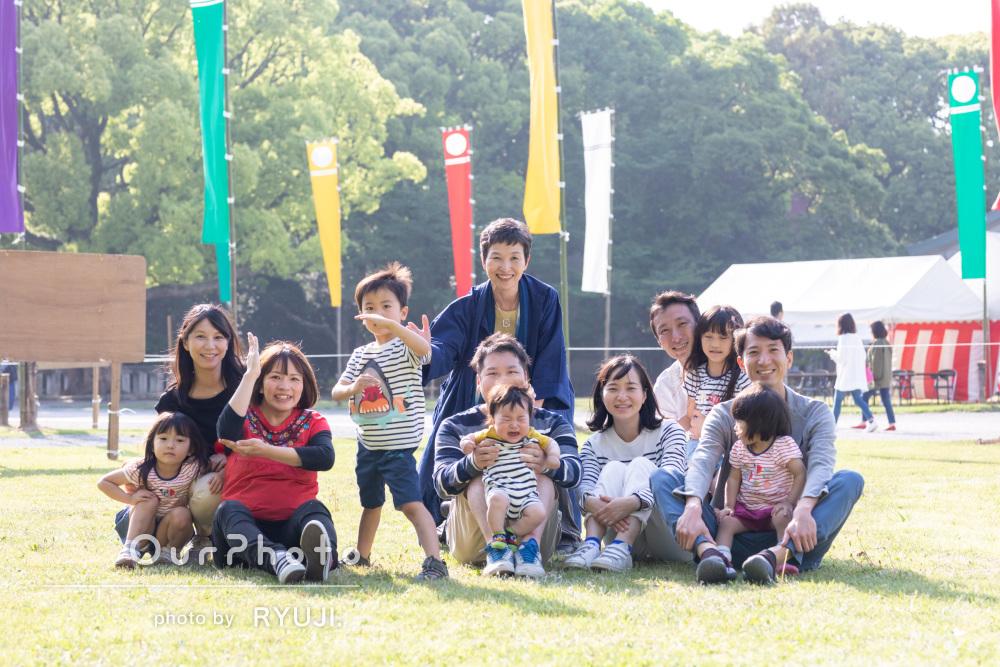 「またぜひお願いしたいです!」初節句に親戚集合で家族写真の撮影