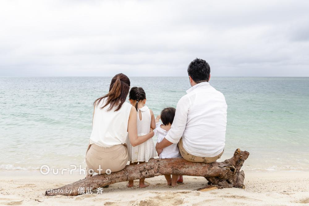 「本当に素敵な仕上がりで大満足です」ビーチで家族写真の撮影