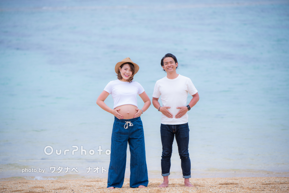 「リラックスして撮影に臨めました」沖縄の海でマタニティフォトの撮影