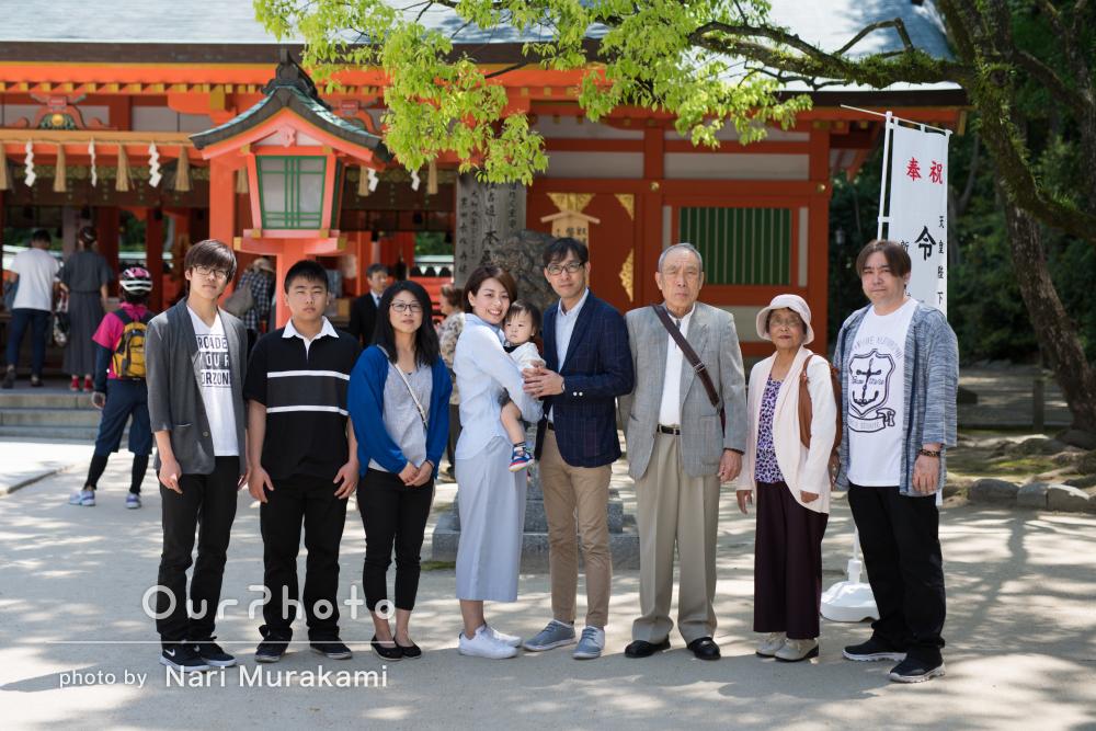 「大変素敵な記念になりました」初節句記念の家族写真の撮影