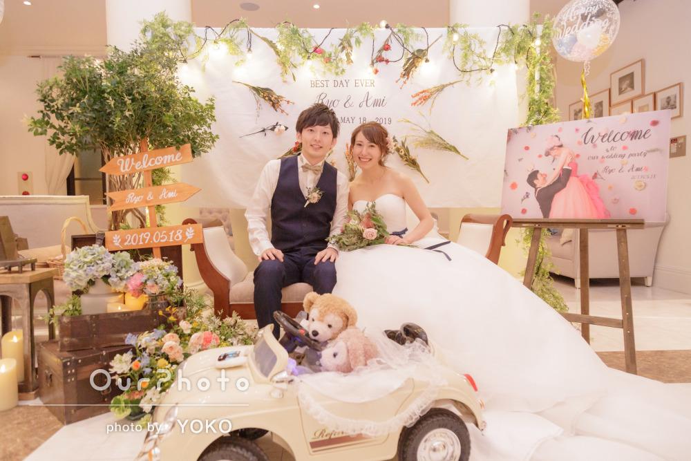 盛り上がりを見せた幸せな結婚式の二次会撮影