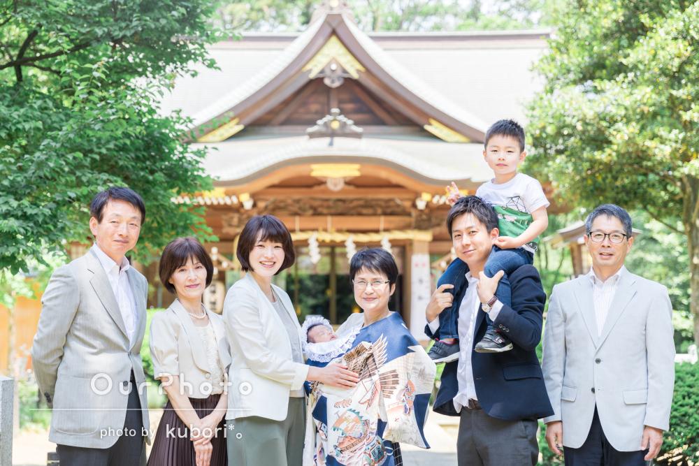 「素敵な写真を撮っていただけて大満足」お宮参りと家族写真の撮影