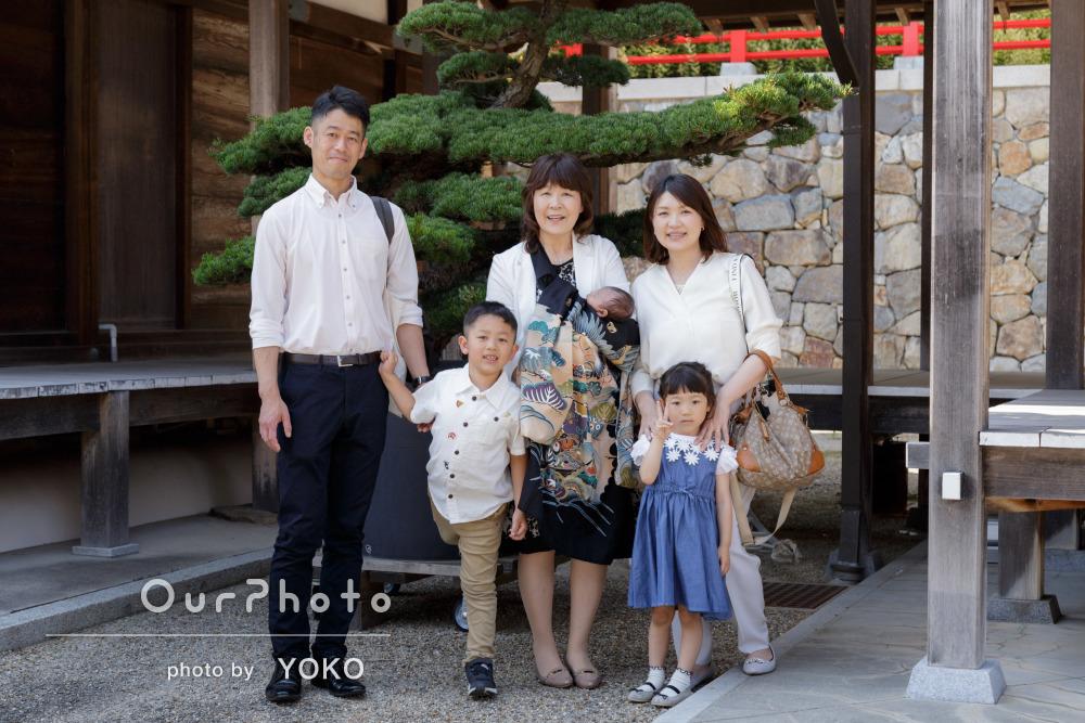 「どれもこれも自然体で素敵な家族写真」お宮参りの撮影