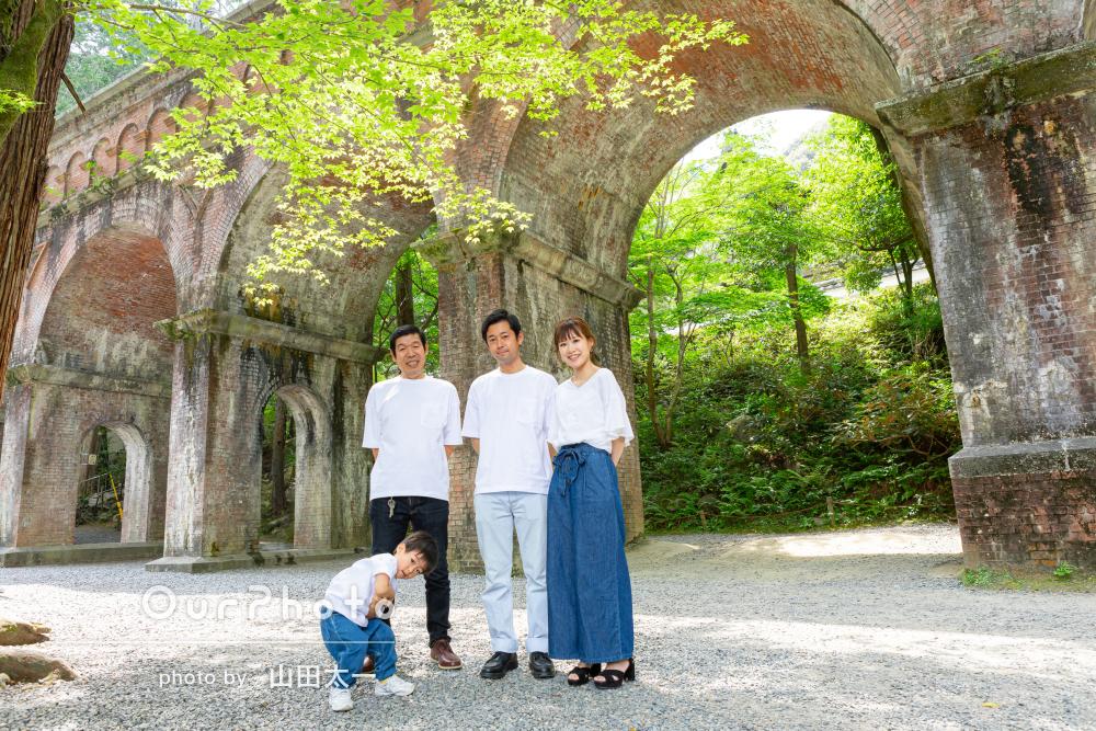「次の記念の時にもぜひお願いしたい」仲良しな雰囲気の家族写真の撮影