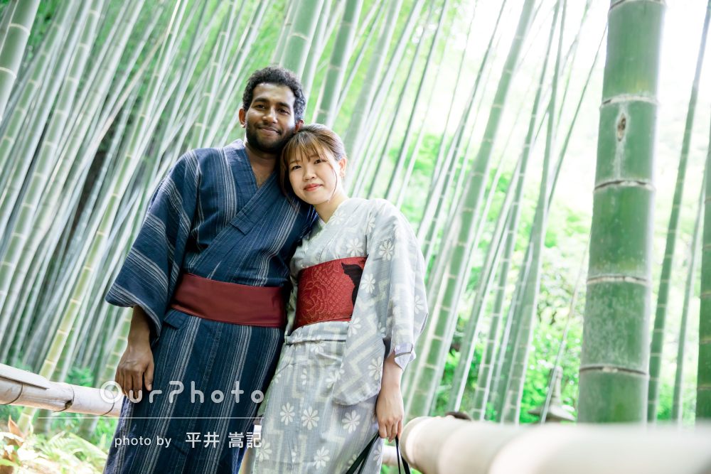 「とても良い雰囲気の中で、楽しく」和装でのカップルフォトの撮影
