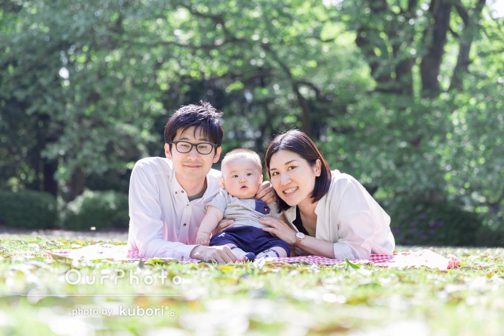 「いろいろと工夫してくださり感激しました。」家族写真の撮影