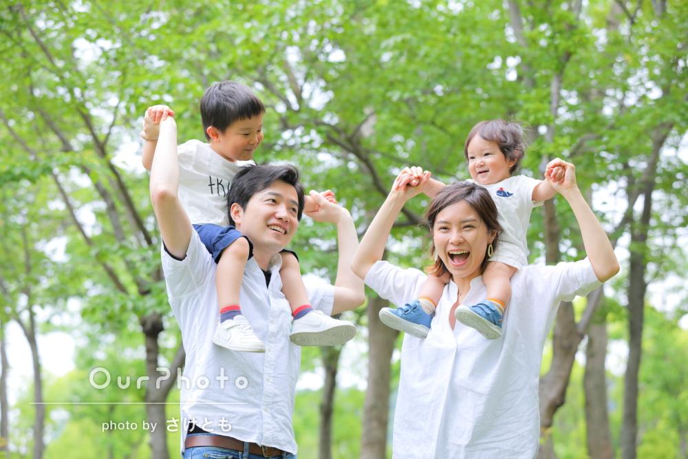 「どの写真も本当に素敵で感動しました」家族の記念写真の撮影