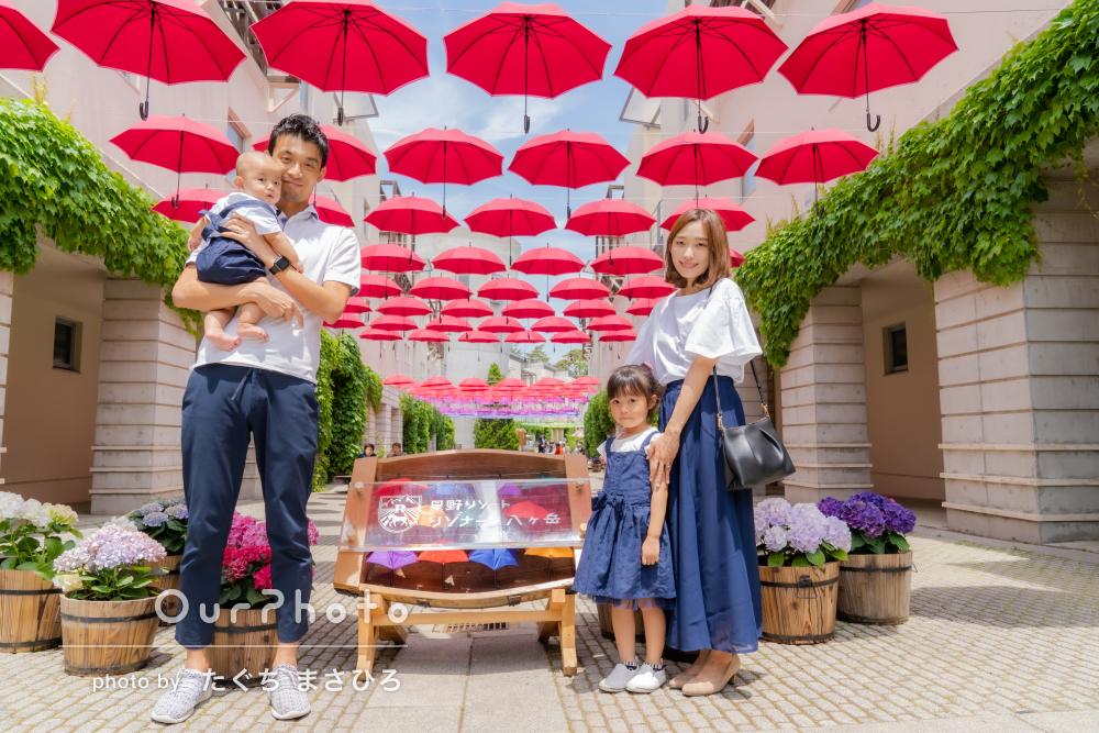 「子供たちの自然な姿」初夏のリゾートでの家族写真の撮影