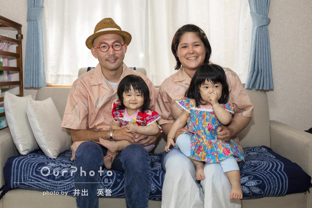 「とても和やかとても楽しい撮影」初夏の家族写真の撮影