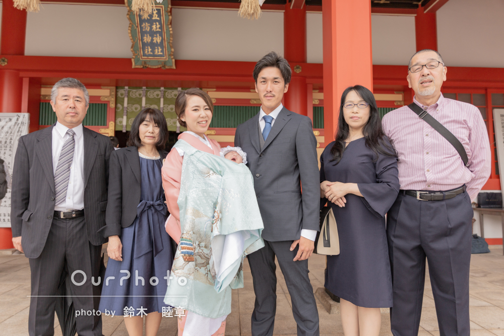「想像以上の写真で家族全員満足」お宮参りの撮影