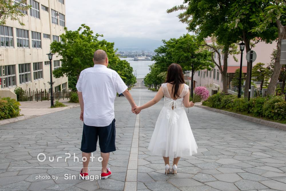 出身地でウェディングフォトを撮りたいを叶える!北海道旅行で記念撮影