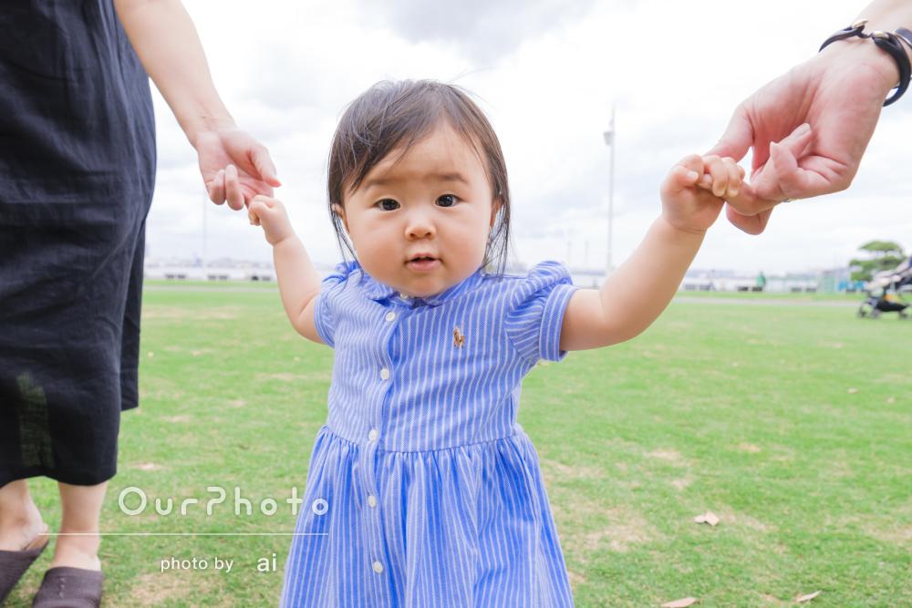 「娘の一歳の記念に家族写真をお願いしました」誕生日の記念撮影