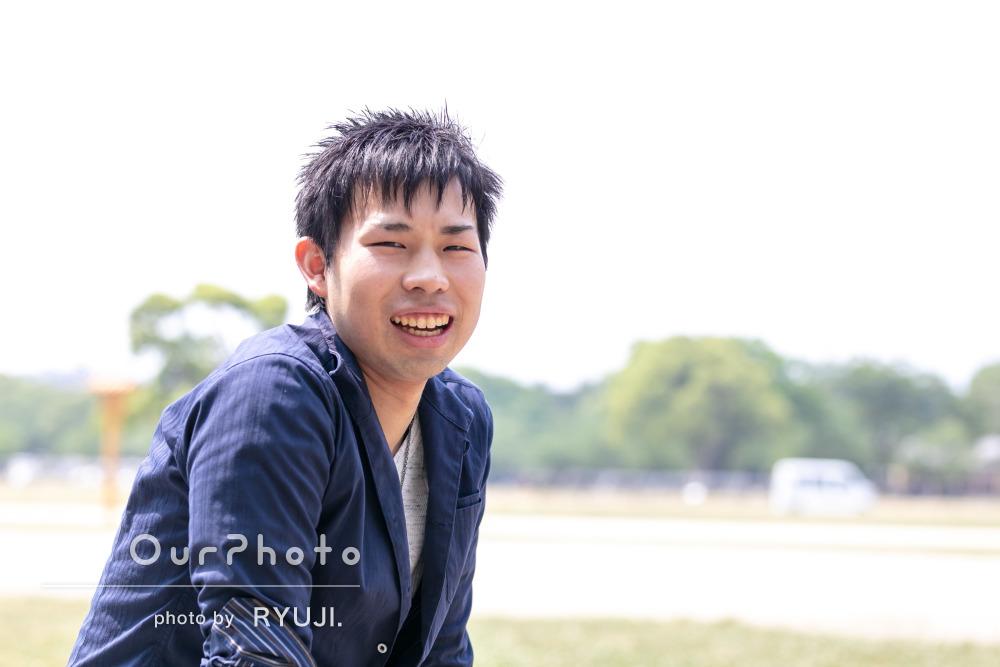 笑顔とクールな表情のギャップが魅力的!男性プロフィール写真の撮影