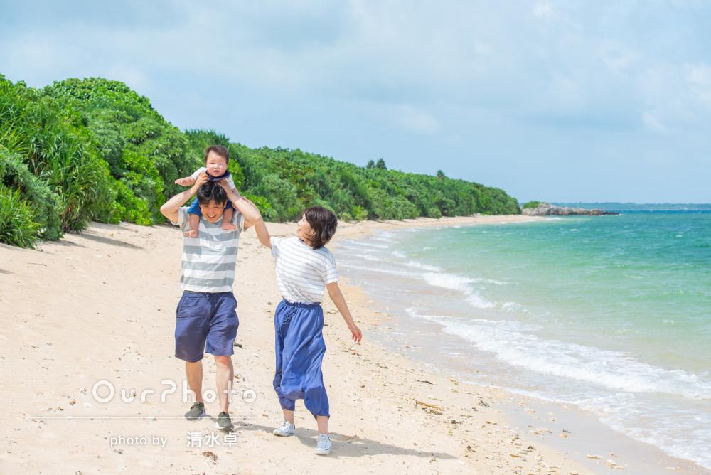 「石垣島らしい青空のもとで撮っていただき大満足です」家族写真の撮影