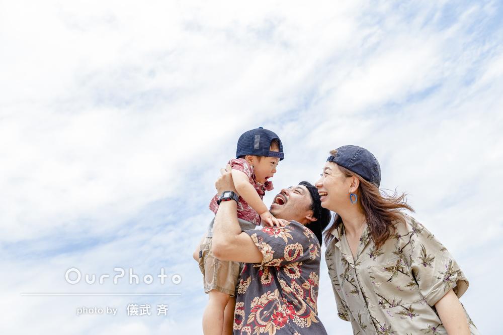 青い空青い海からミステリアスな洞窟まで!沖縄旅行での家族写真の撮影