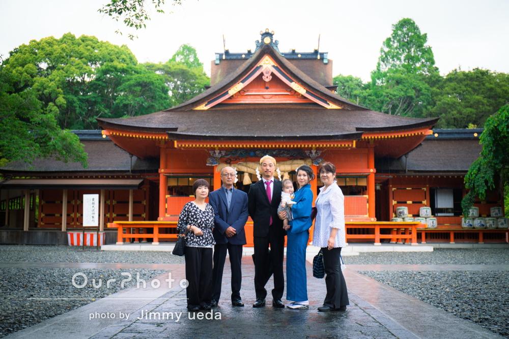 「スムーズで家族の表情も明るいものばかり」お宮参りの撮影
