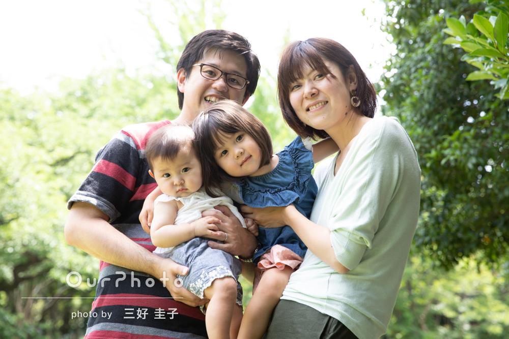「人見知りの長女もご機嫌に撮影出来ました」家族写真の撮影