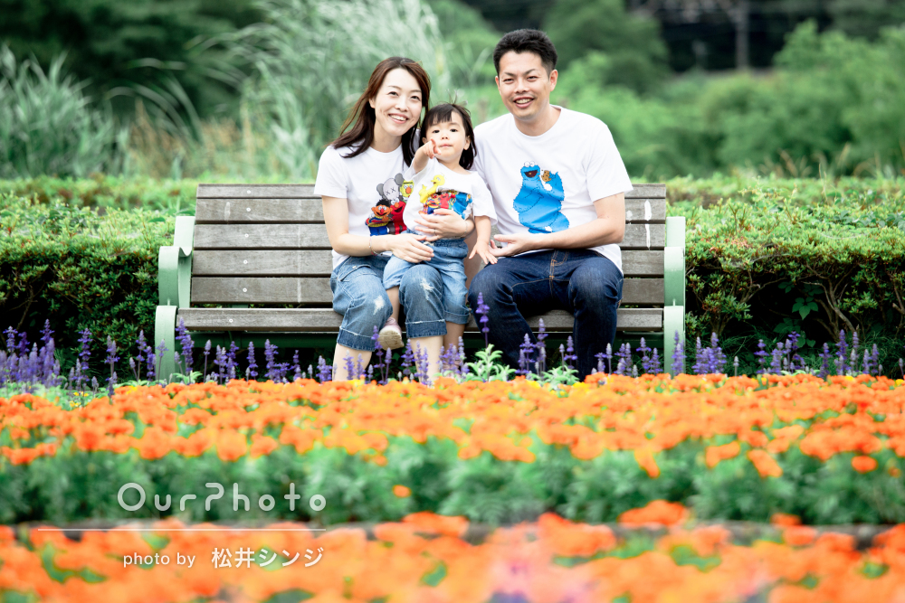「可愛い瞬間を逃さず撮影して下さいました」家族写真の撮影