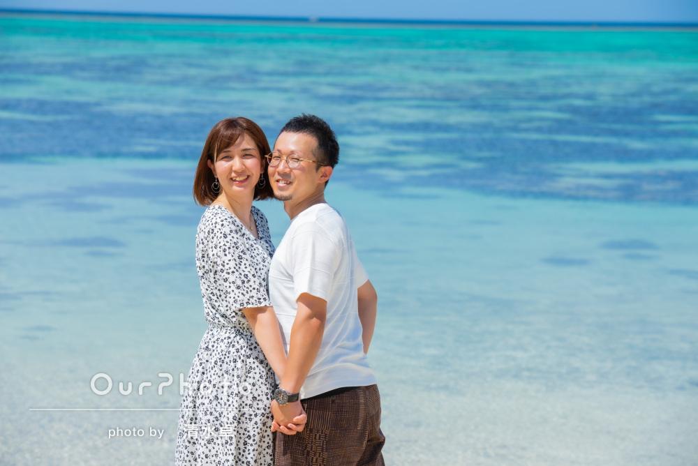 透き通るような青い海!石垣島でのカップルフォトの撮影