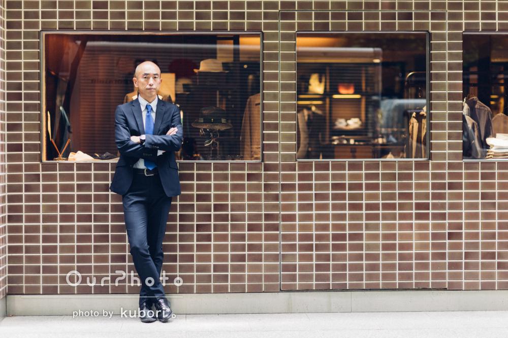 東京の街中でおしゃれな印象のプロフィール写真の撮影