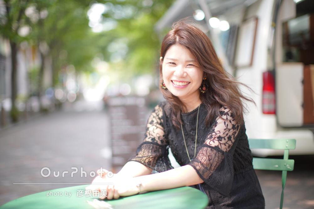 「ステキなお写真」明るい笑顔でプロフィール写真の撮影