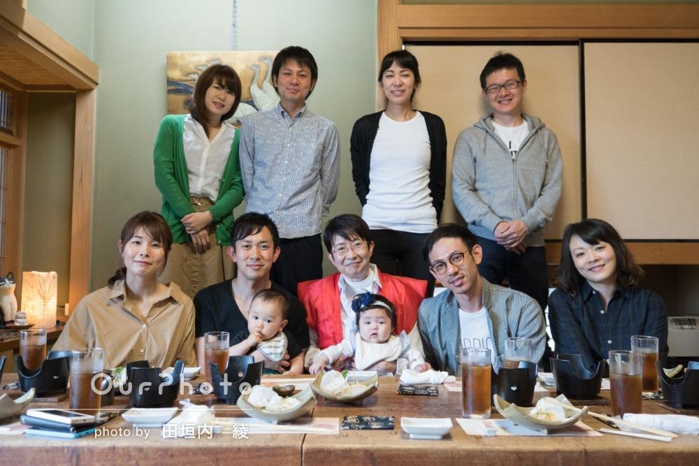「とてもよい思い出が出来ました。」還暦のお祝い会で家族写真の撮影