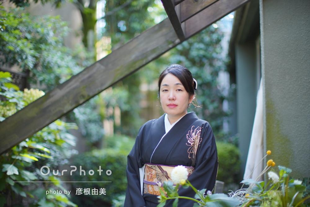 凛とした和服姿に気品が漂うプロフィール写真の撮影