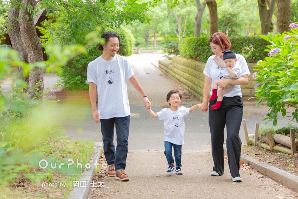 「遊びながら自然な表情の写真を撮ってもらえました」家族写真の撮影