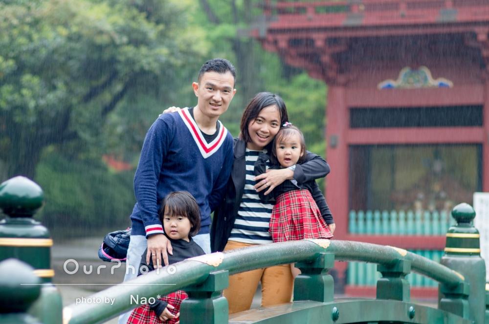 """日本への旅行で、""""日本らしい場所""""で家族写真を撮影してほしい!"""