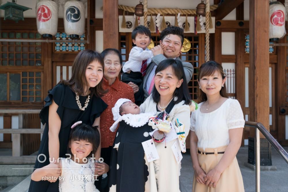 「末っ子のお宮参りで、家族の集合写真と兄弟写真を撮ってほしい!」お宮参りの撮影