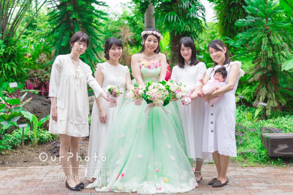 結婚・妊娠・出産という人生の節目も共に!鮮やかな緑の中で友フォト撮影