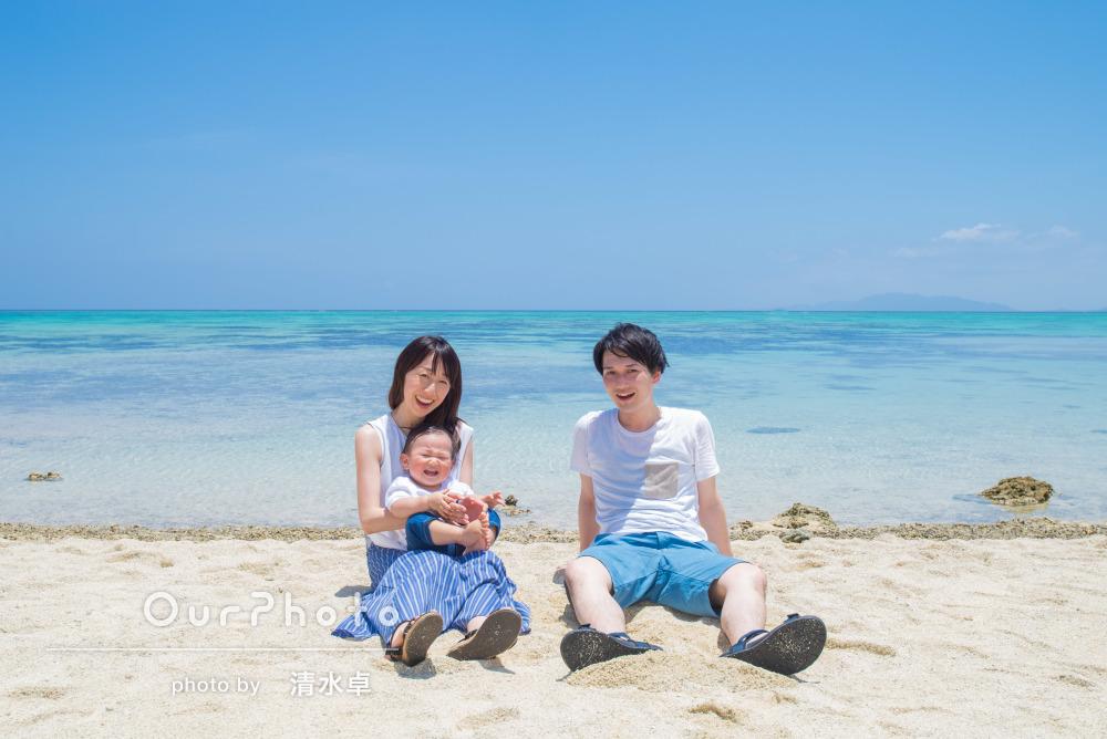「リラックスして撮影ができた」石垣島で1歳誕生日記念の家族写真