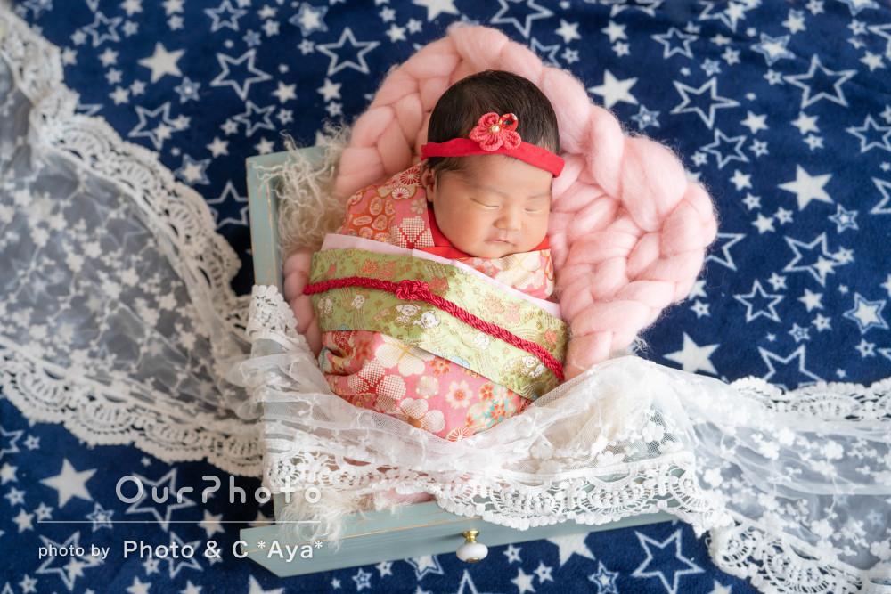 七夕の織姫さまのようにキラキラ輝いたニューボーンフォト撮影