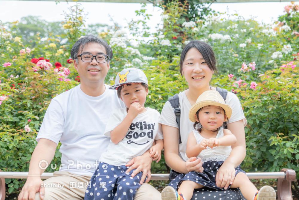 工夫たっぷり!「子供のペースで子供たちが笑顔」家族写真の撮影