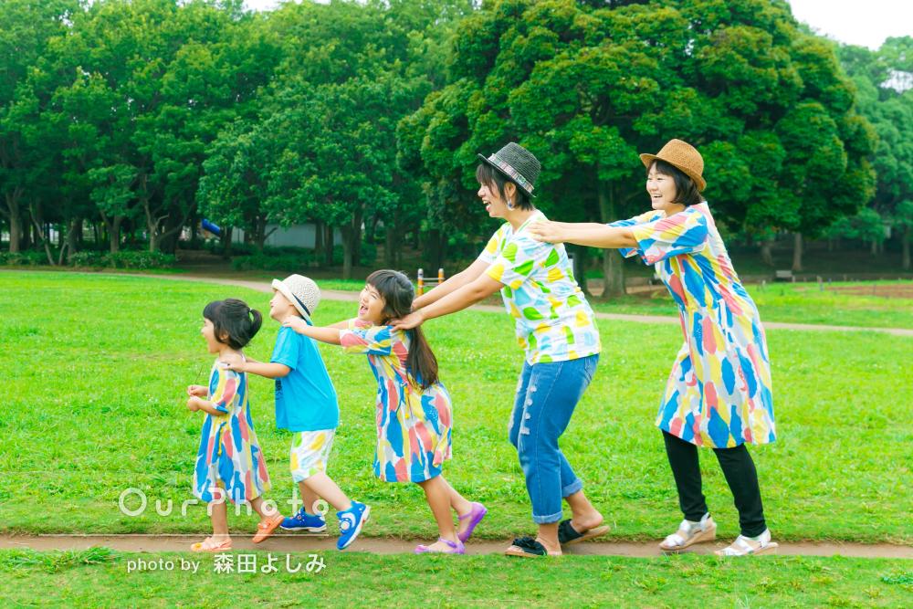 「温かい風合いの写真がいっぱい!!」リンクコーデで家族写真の撮影