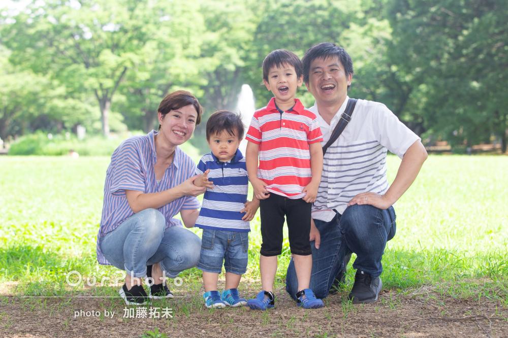 「家族ともどもとても満足」リンクコーデで仲良し家族写真の撮影