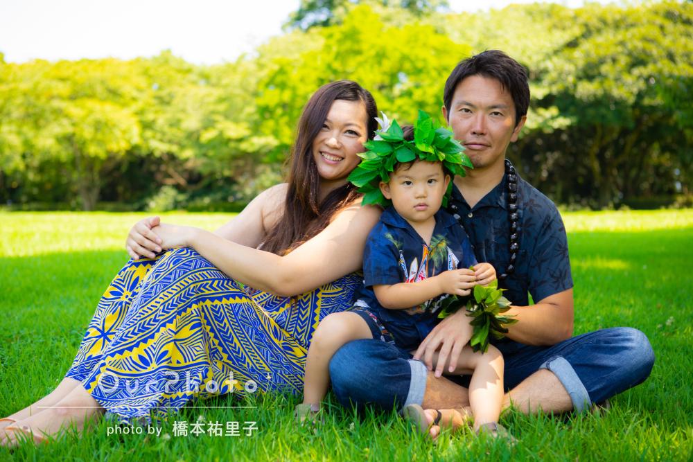 「星5つでは足りないくらい大満足です」誕生日記念の家族写真の撮影