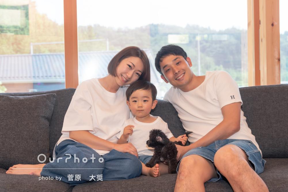 「人見知りの息子も楽しそうでした」2歳の記念に家族写真の撮影