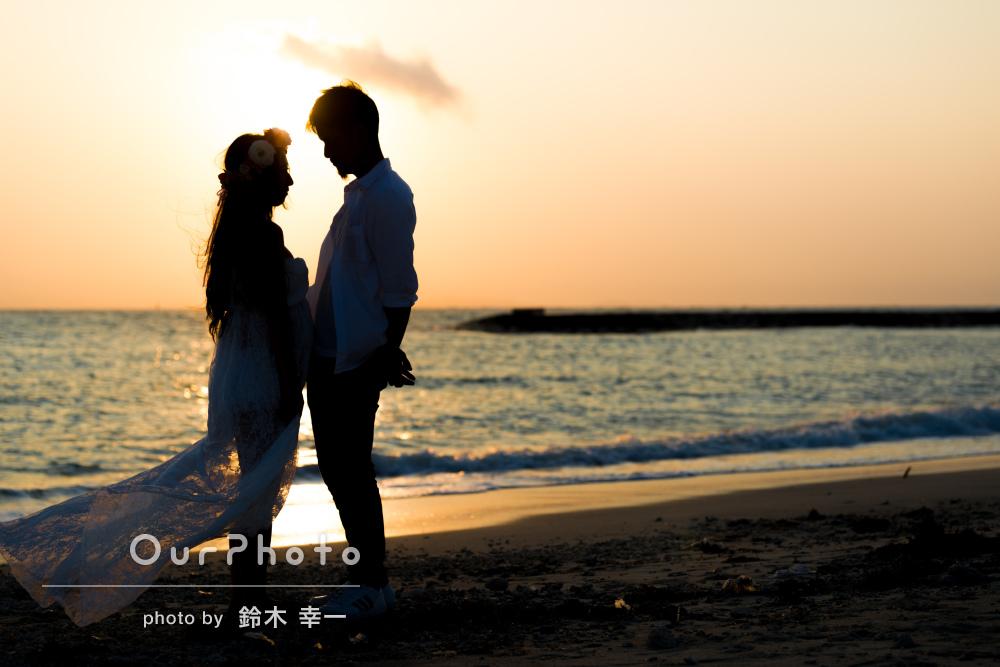 「とてもリラックスして撮影」沖縄の海でマタニティフォトの撮影