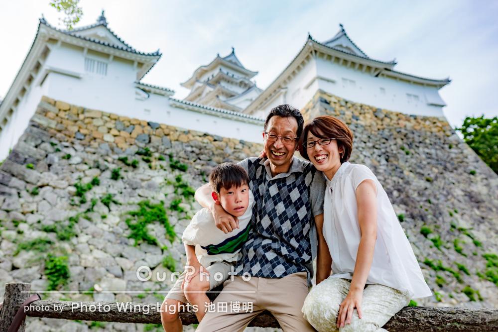 「家族の幸せな思い出の1ページ」家族の記念写真の撮影