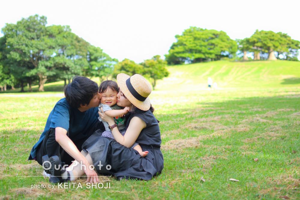 「とても安心して撮影できました」1歳のお子様の家族写真の撮影