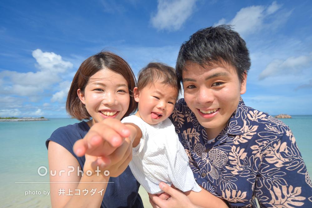 「どれも素敵な写真ばかり」開放的な沖縄のビーチでお誕生日記念の撮影