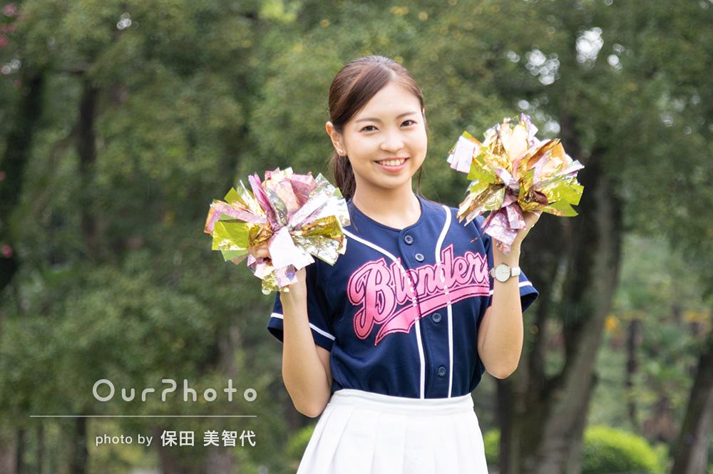 文武両道!多彩な魅力が表現された女性プロフィール写真の撮影