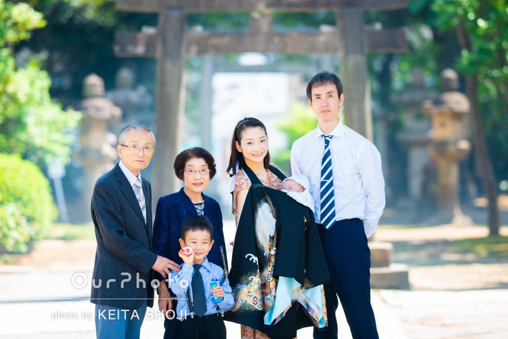 「貴重な時間を写真に」家族の優しさに包まれてお宮参りの撮影